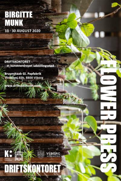 Plakat 'Flower Press', Birgitte Munk